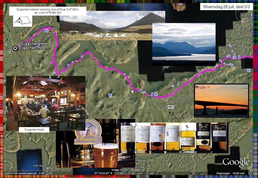 Woensdag 28 juli, deel 3/3 Sligachan hotel en camping, Isle of Skye, IV47 8SW, tel: +(44)1478 650 204 Sligachan Hotel