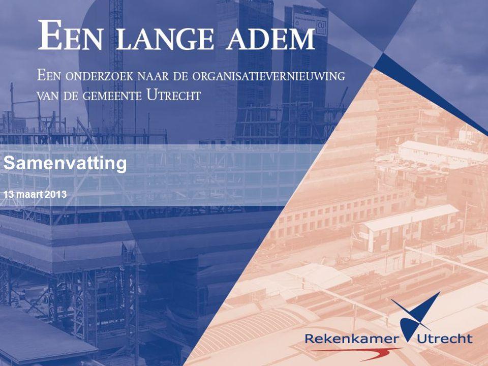 Rekenkameronderzoek naar organisatievernieuwing Via B De Rekenkamer Utrecht onderzocht Via B.