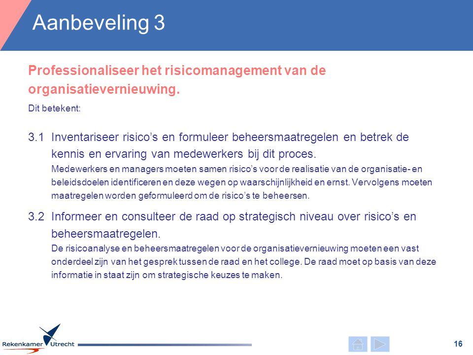 Dit betekent: 3.1Inventariseer risico's en formuleer beheersmaatregelen en betrek de kennis en ervaring van medewerkers bij dit proces. Medewerkers en