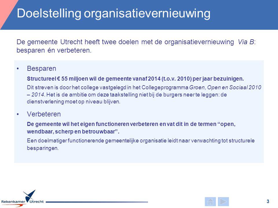 •Besparen Structureel € 55 miljoen wil de gemeente vanaf 2014 (t.o.v. 2010) per jaar bezuinigen. Dit streven is door het college vastgelegd in het Col