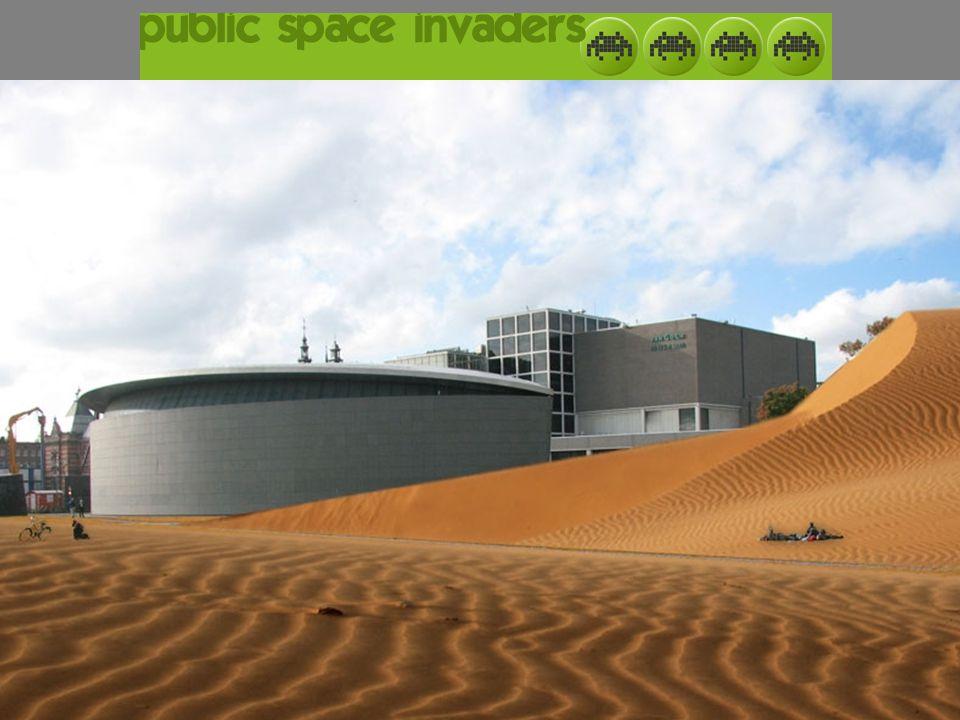 Onze gedachte Public space: 'het museumplein'.