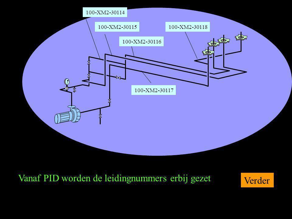 Vanaf PID worden de leidingnummers erbij gezet Verder 1 100-XM2-30114 100-XM2-30115 100-XM2-30116 100-XM2-30117 100-XM2-30118