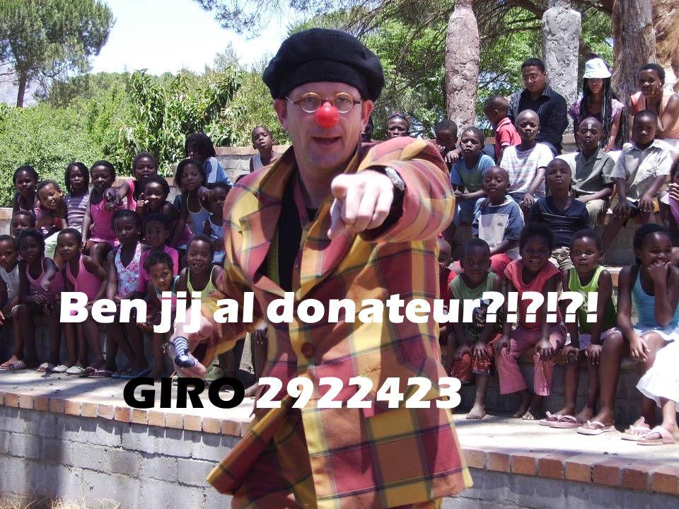 Ben jij al donateur ! ! ! GIRO 2922423