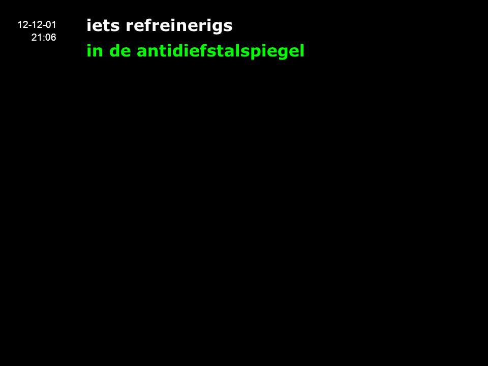 iets refreinerigs in de antidiefstalspiegel 12-12-01 21:06