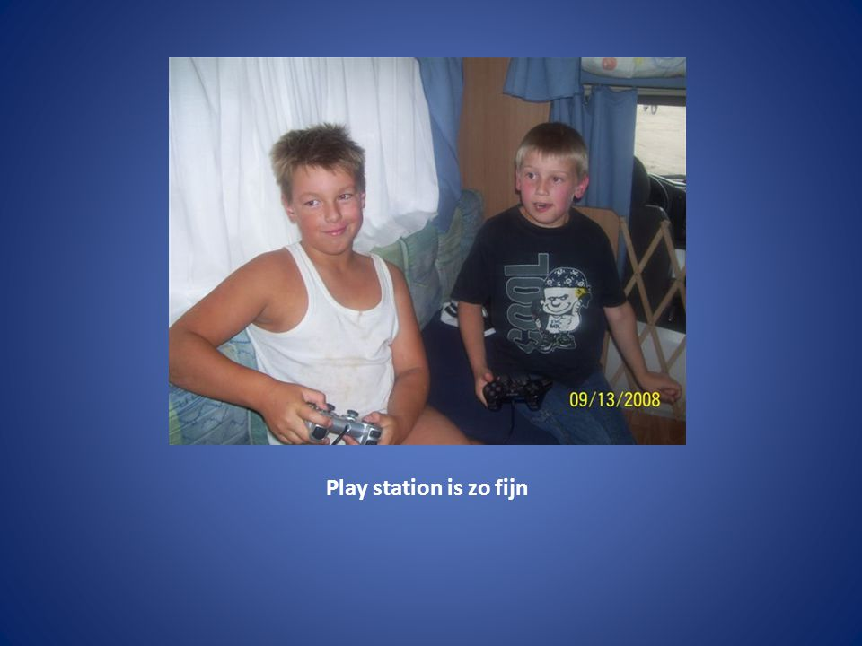 Play station is zo fijn