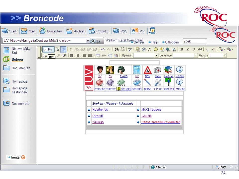 34 >> Broncode