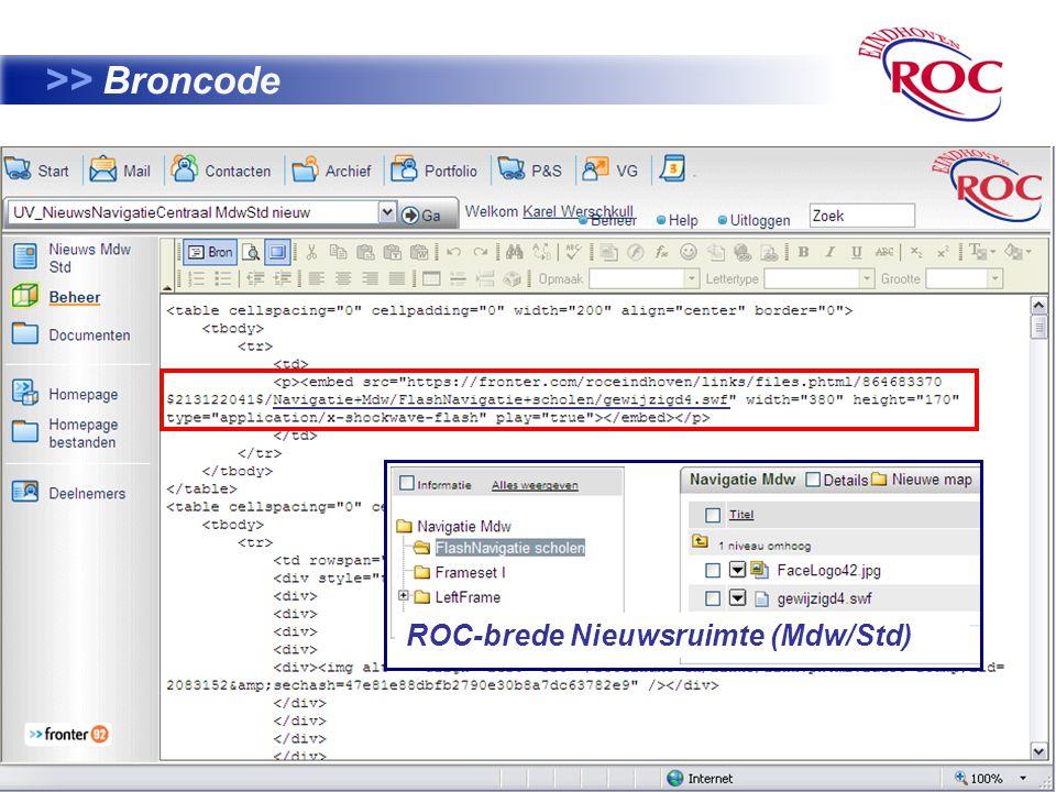 35 >> Broncode ROC-brede Nieuwsruimte (Mdw/Std)