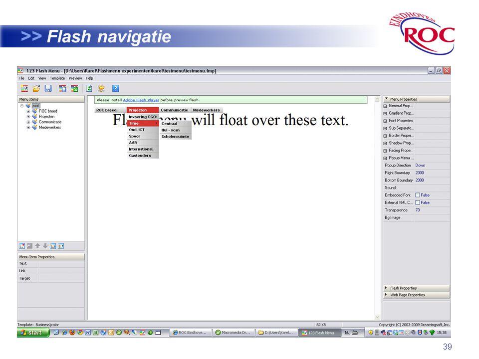 39 >> Flash navigatie