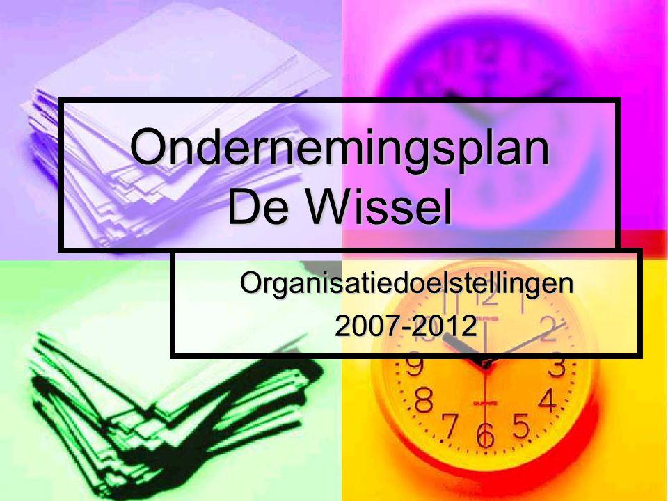 Ondernemingsplan De Wissel Organisatiedoelstellingen2007-2012