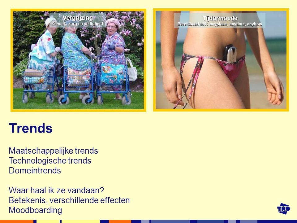 Trends Maatschappelijke trends Technologische trends Domeintrends Waar haal ik ze vandaan.