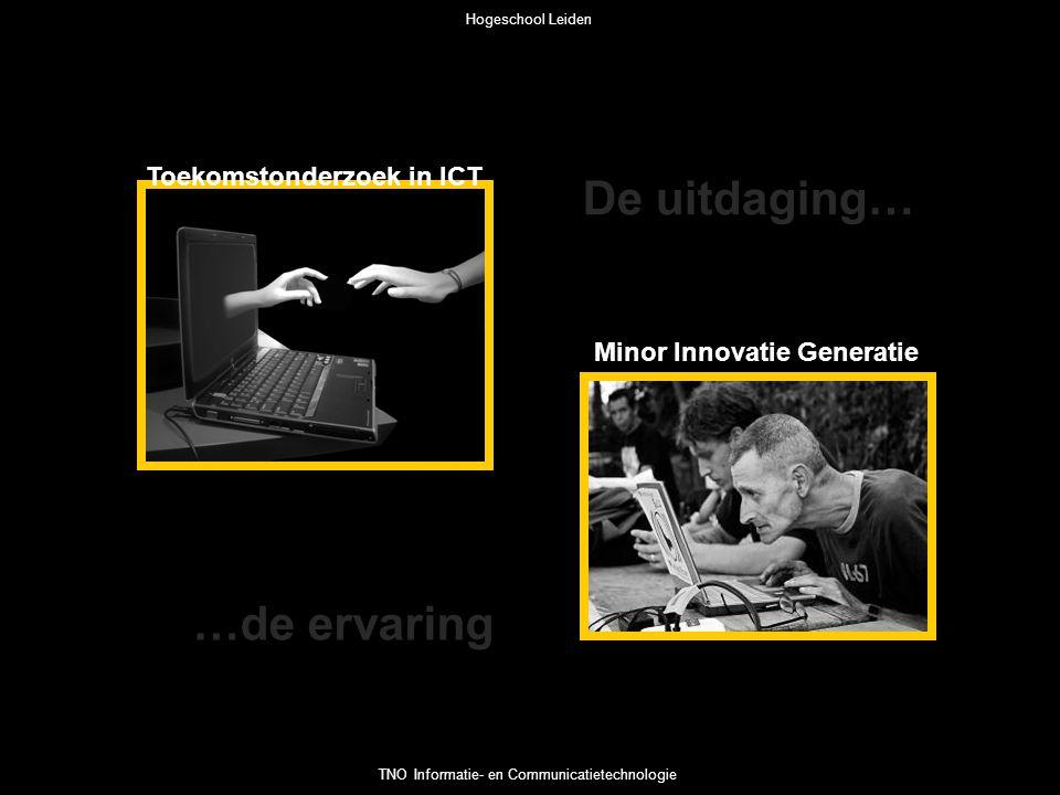 Toekomstonderzoek in ICT Minor Innovatie Generatie De uitdaging… …de ervaring Hogeschool Leiden TNO Informatie- en Communicatietechnologie