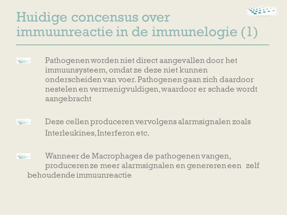 Pathogenen worden niet direct aangevallen door het immuunsysteem, omdat ze deze niet kunnen onderscheiden van voer.