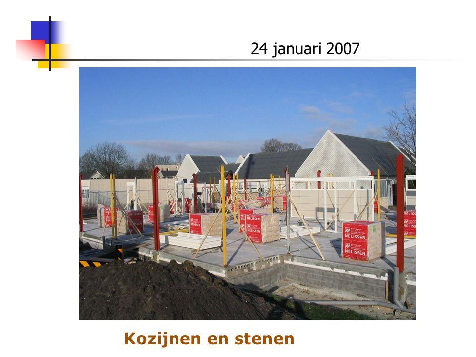 24 januari 2007 Kozijnen en stenen