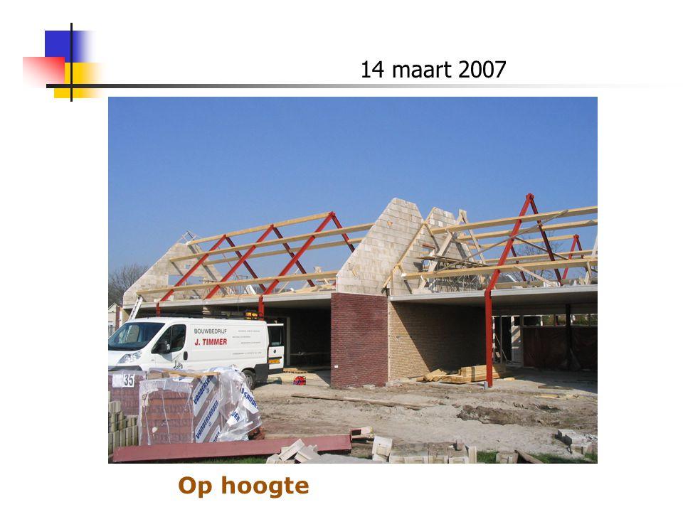 14 maart 2007 Op hoogte