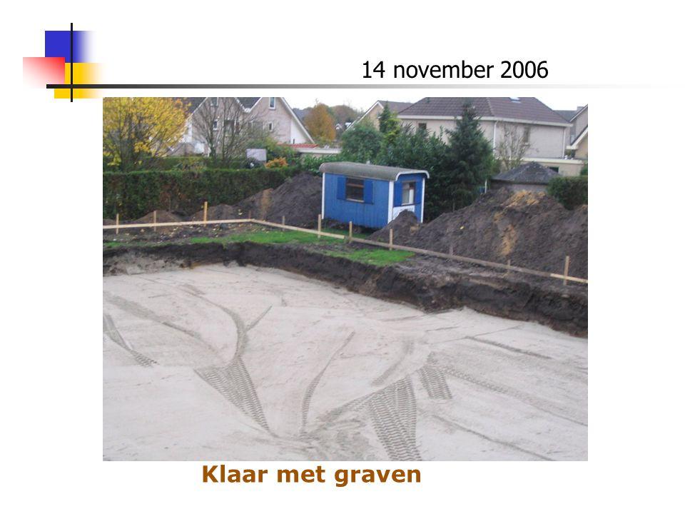 14 november 2006 Klaar met graven
