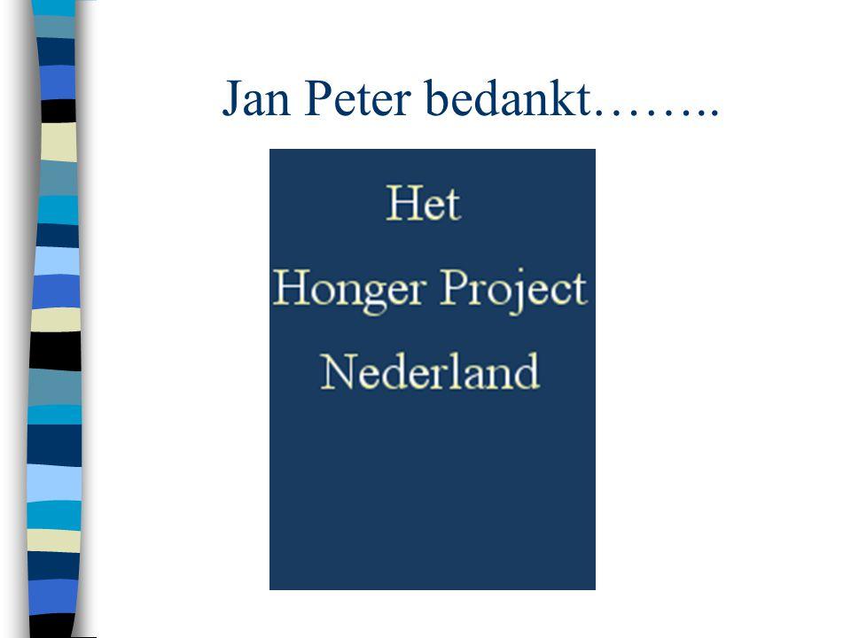 Jan Peter bedankt……..