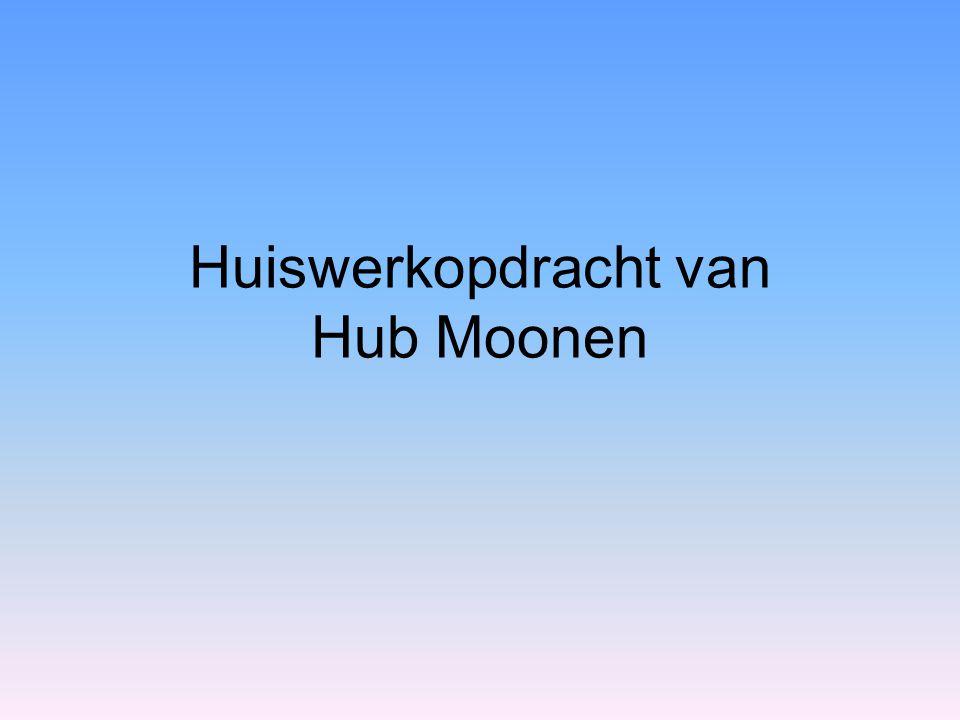 Huiswerkopdracht van Hub Moonen