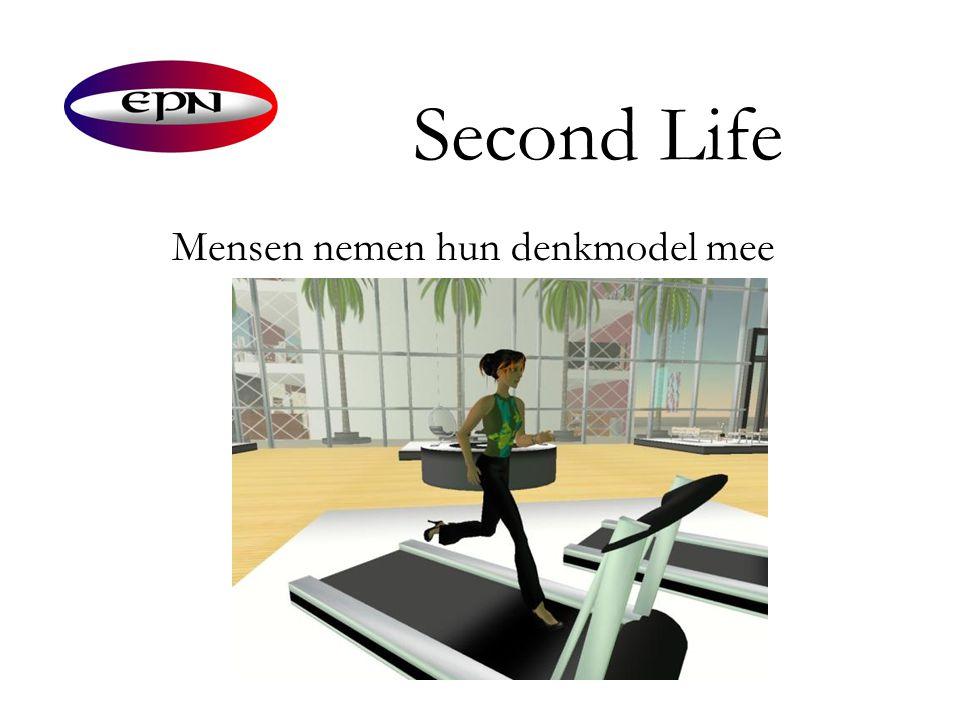 Second Life Mensen nemen hun denkmodel mee