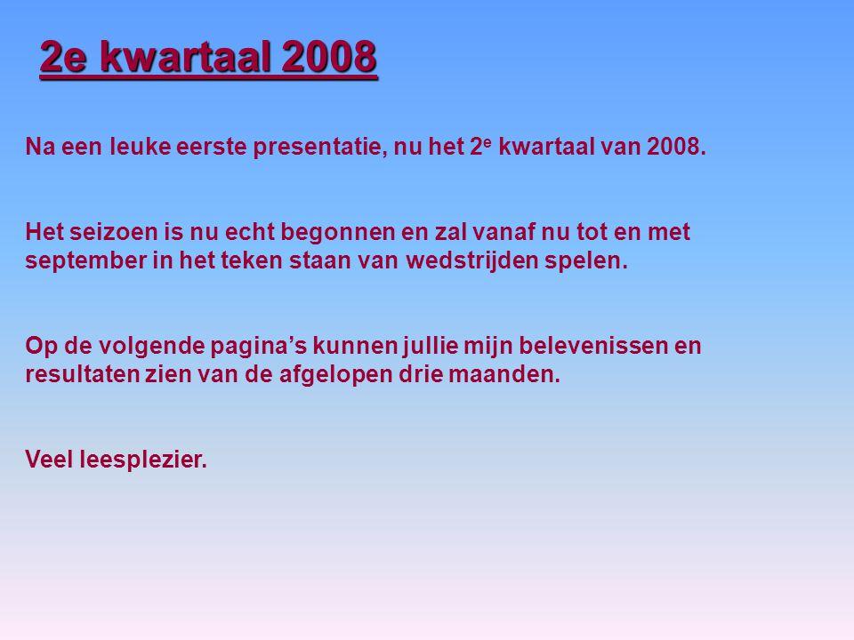 2e kwartaal 2008 Na een leuke eerste presentatie, nu het 2 e kwartaal van 2008.