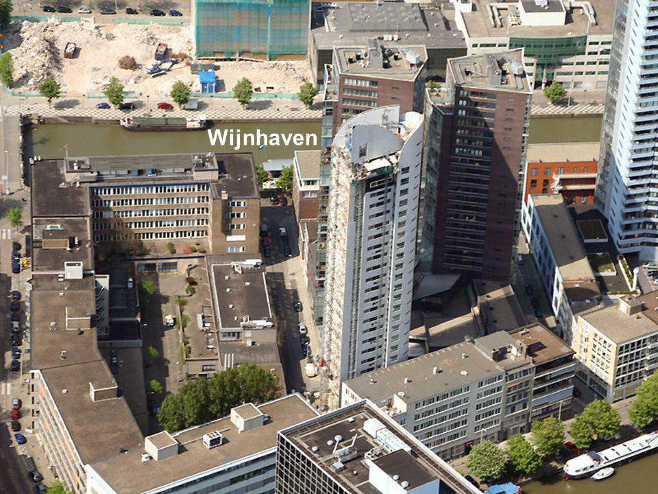 In deze vier gebouwen slapen de ambtenaren verder Vierhavensstraat