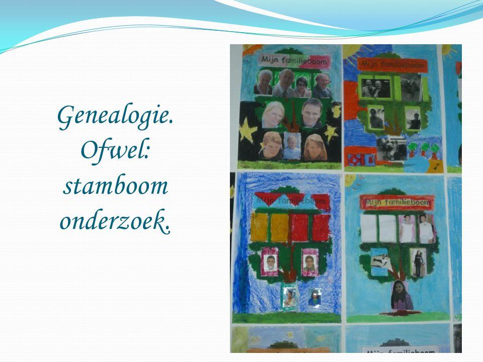 Genealogie. Ofwel: stamboom onderzoek.