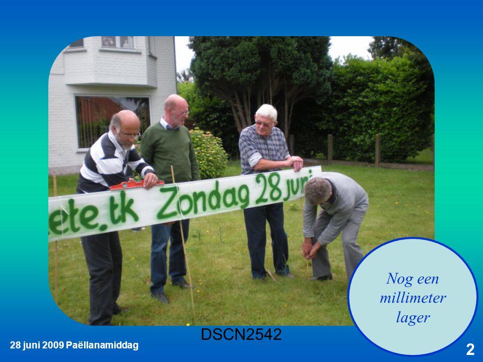 28 juni 2009 Paëllanamiddag 3 Iemand moet het bord toch vasthouden
