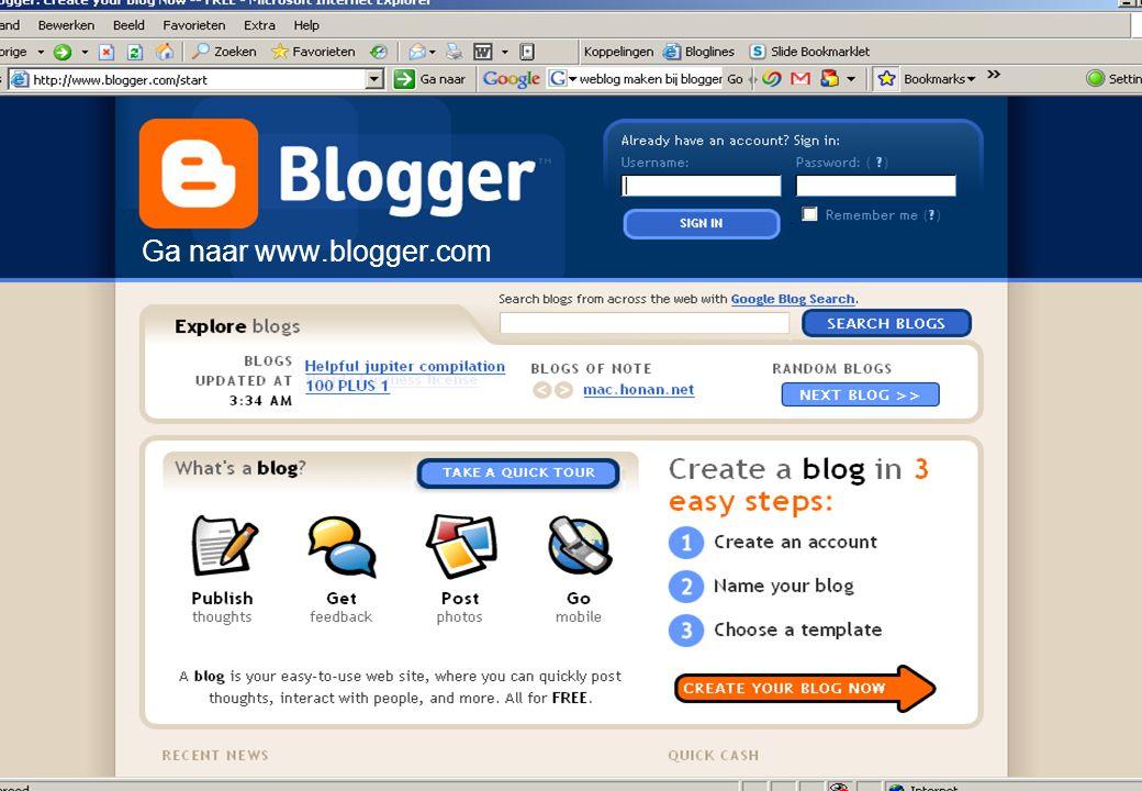 Ga naar www.blogger.com