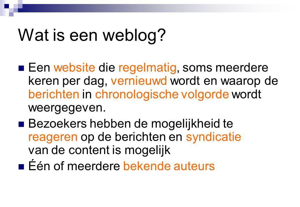 Wat is een weblog.