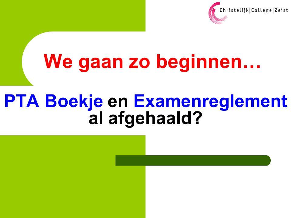 © 2010; Exacom/NvS Agenda  19:30 PTA en (Eind)examen – N.