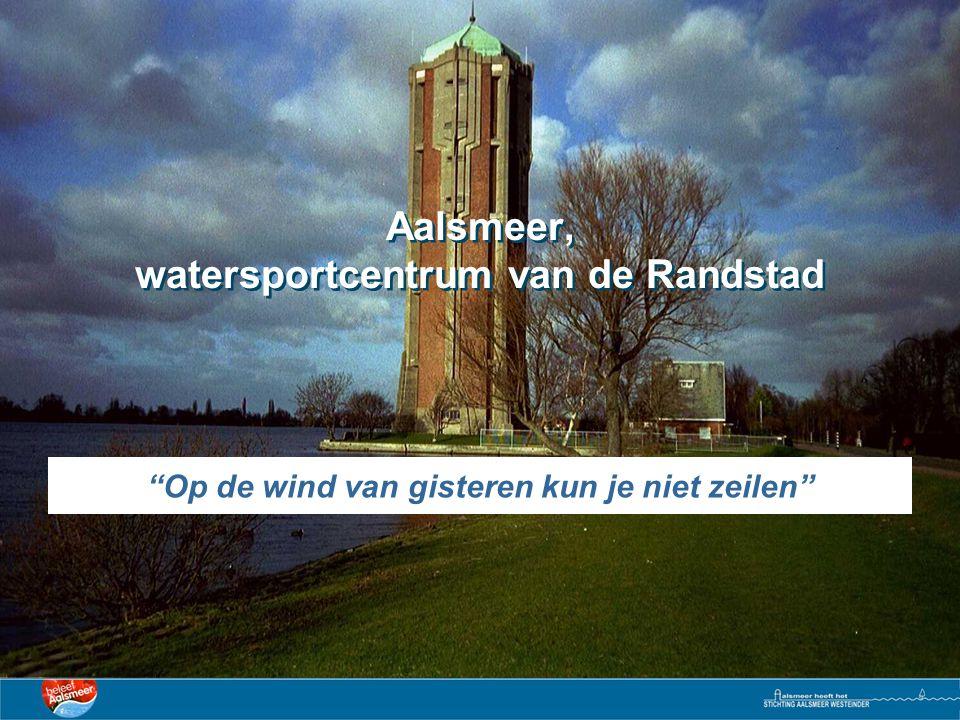 Op de wind van gisteren kun je niet zeilen Aalsmeer, watersportcentrum van de Randstad
