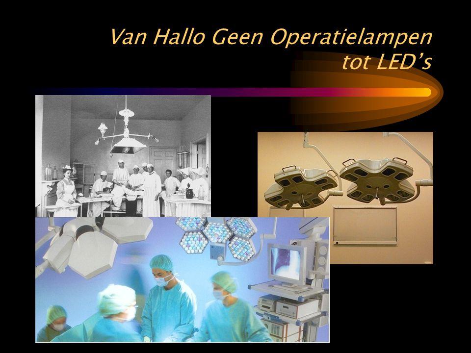 Van Hallo Geen Operatielampen tot LED's