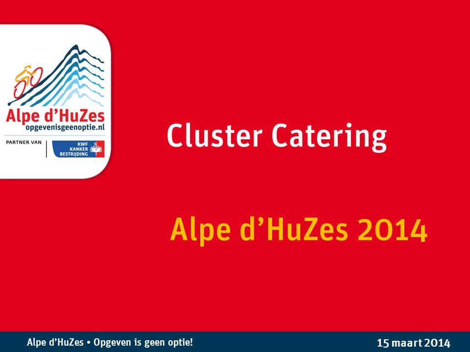 Alpe d'HuZes • Opgeven is geen optie.Wat doet Cluster Catering tijdens de koersweek.