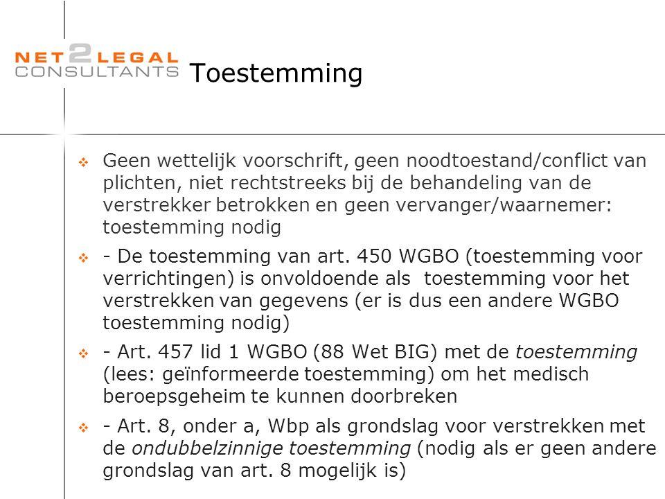 Toestemming  - Art.