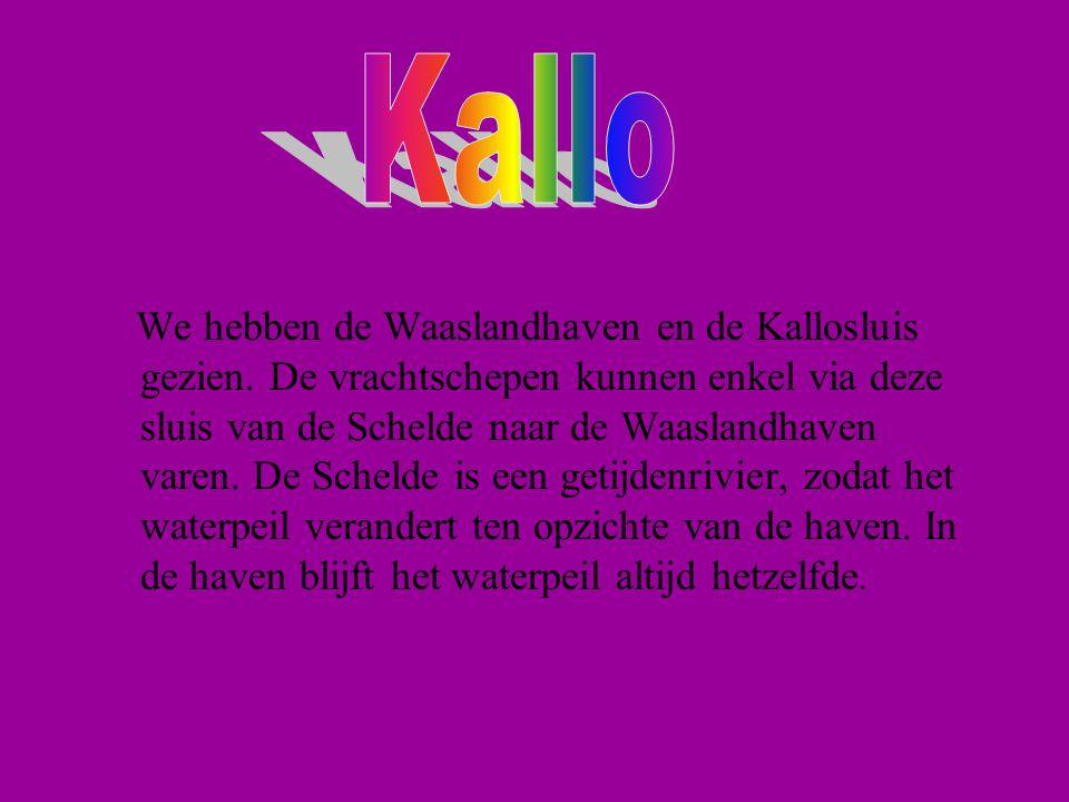 We hebben de Waaslandhaven en de Kallosluis gezien.