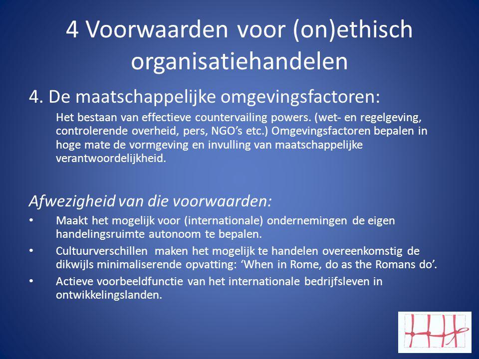 4 Voorwaarden voor (on)ethisch organisatiehandelen 4.