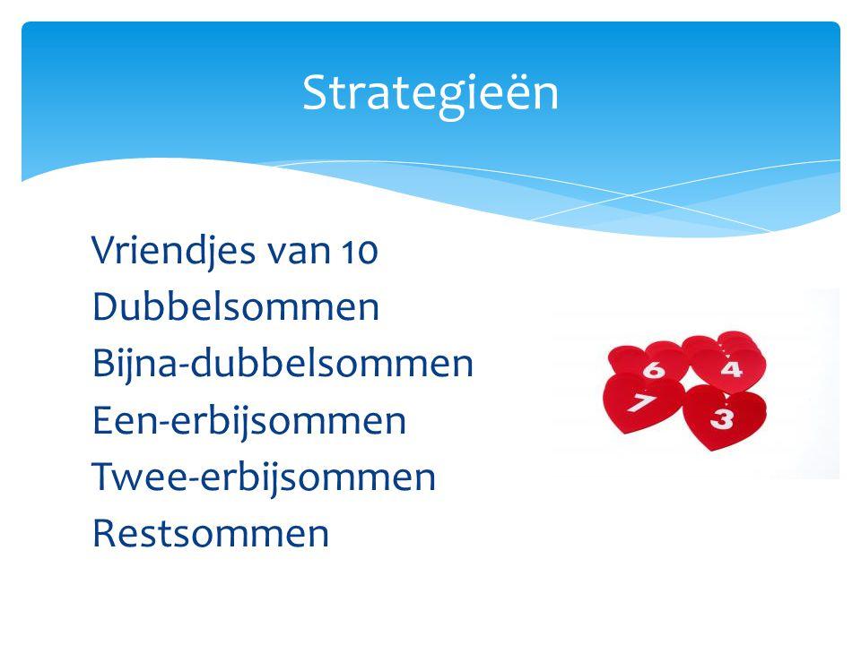 Modellen:  Kralenketting (5 rode, 5 witte, 5 rode, 5 witte)  Vingers  Geld  Eierdoos  Kralenrekje Splitsen: 5+3 is hetzelfde als 3+5 Twee delen s