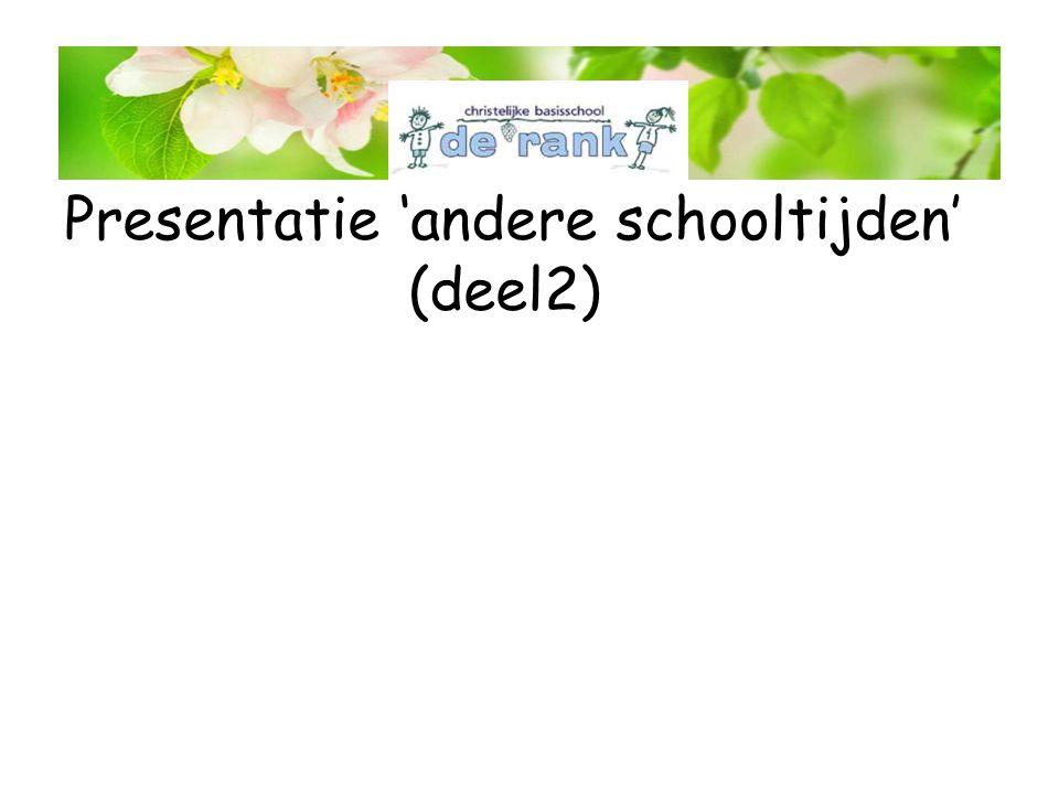 Presentatie 'andere schooltijden' (deel2)
