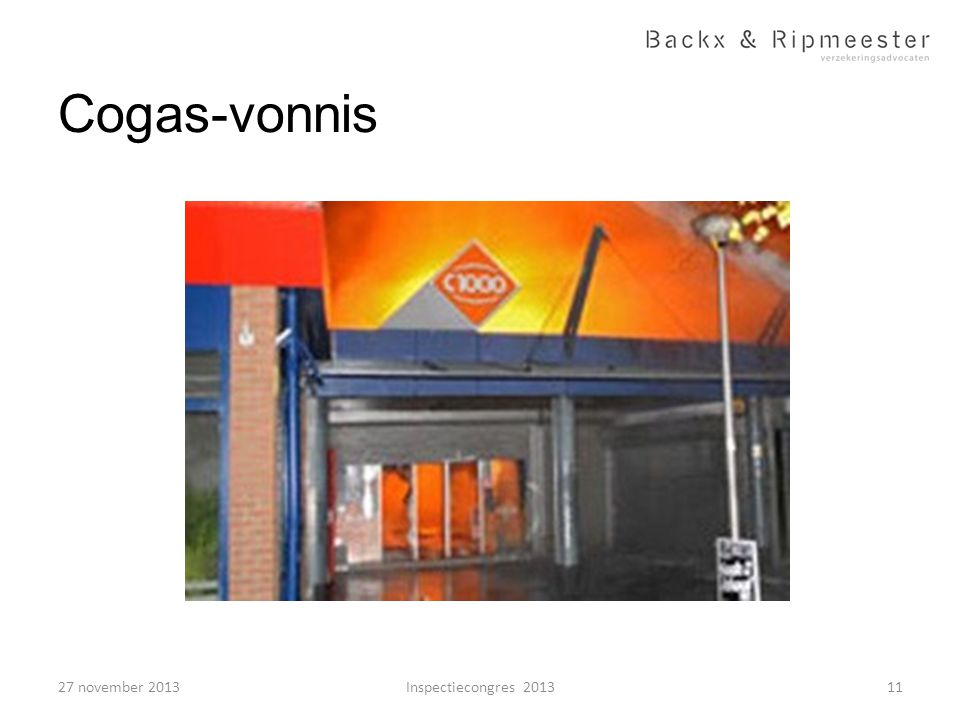 Cogas-vonnis 11Inspectiecongres 201327 november 2013