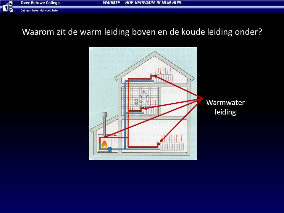 Waarom zit de warm leiding boven en de koude leiding onder? Warmwater leiding WARMTE – HOE VERWARM IK MIJN HUIS