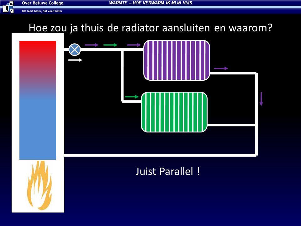 Hoe zou ja thuis de radiator aansluiten en waarom? Juist Parallel ! WARMTE – HOE VERWARM IK MIJN HUIS