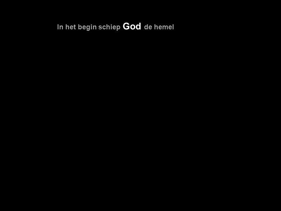 God schiep de mens als zijn evenbeeld als evenbeeld van God schiep Hij hem