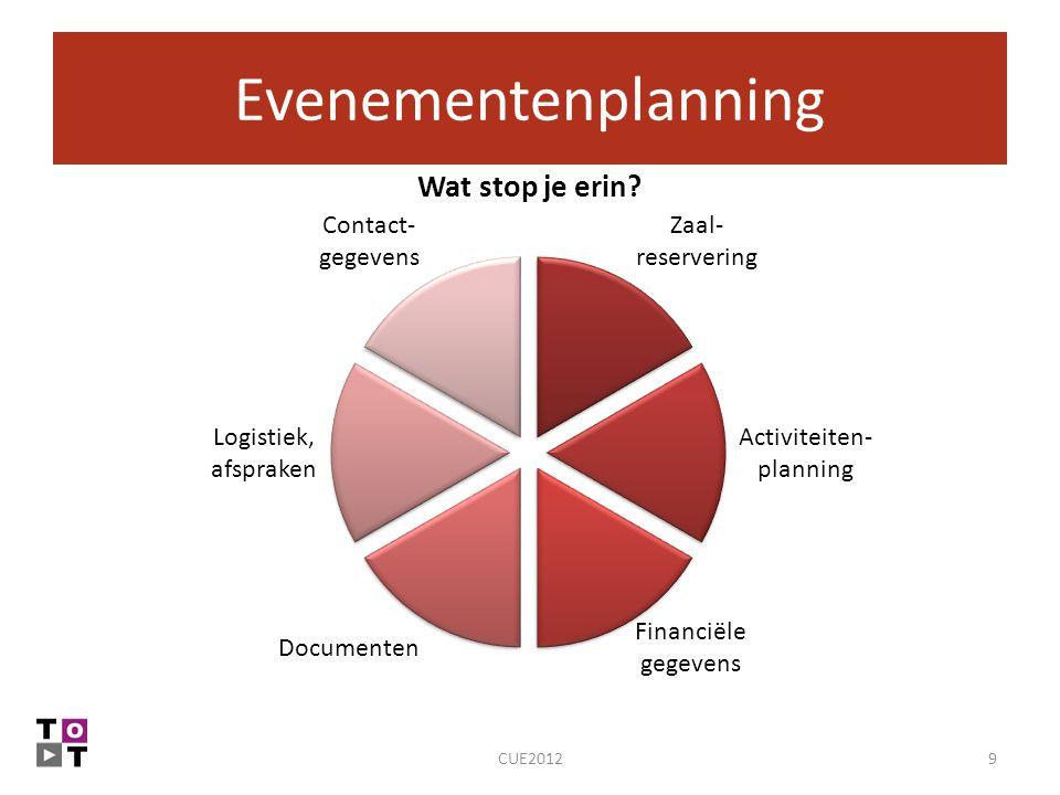 Evenementenplanning 9CUE2012