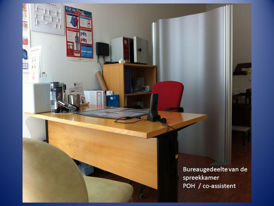 Bureaugedeelte van de spreekkamer POH / co-assistent