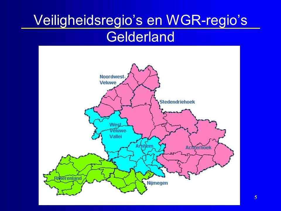 5 Veiligheidsregio's en WGR-regio's Gelderland