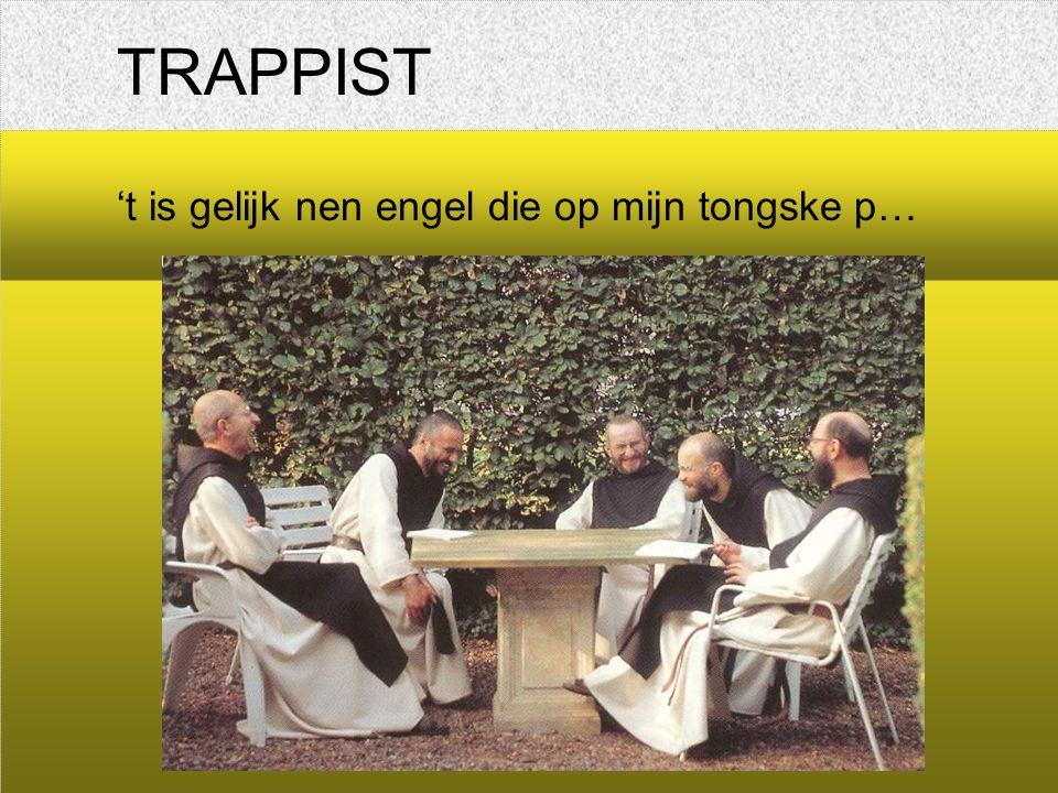 TRAPPIST 't is gelijk nen engel die op mijn tongske p…