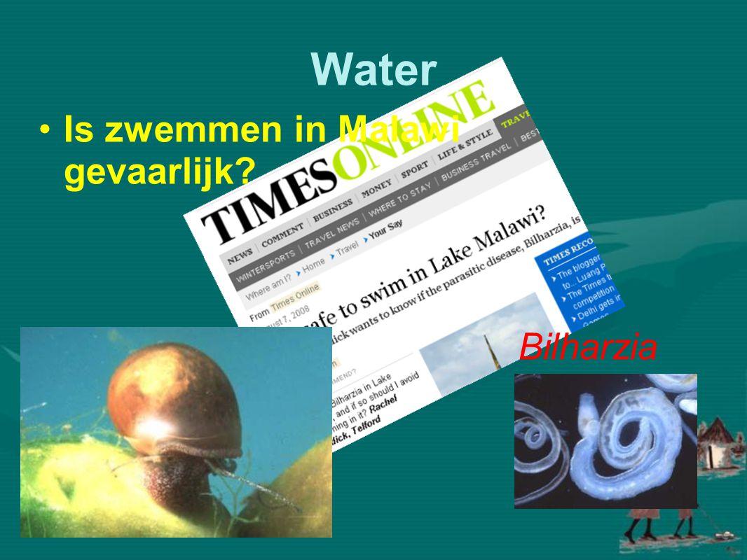 Water •Niet zwemmen of pootjebaden in stilstaand zoetwater