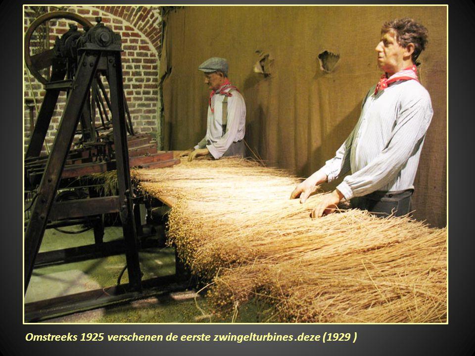 Een oude werkwijze om vlas te ontzaden,was het repelen of afripsen van de zaadbollen.