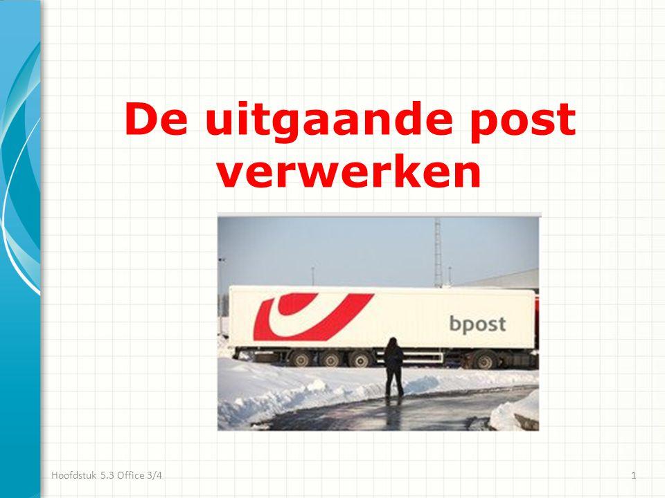 De poststukken Poststukken komen toe op de receptie: • met of zonder omslag; • nog te frankeren.