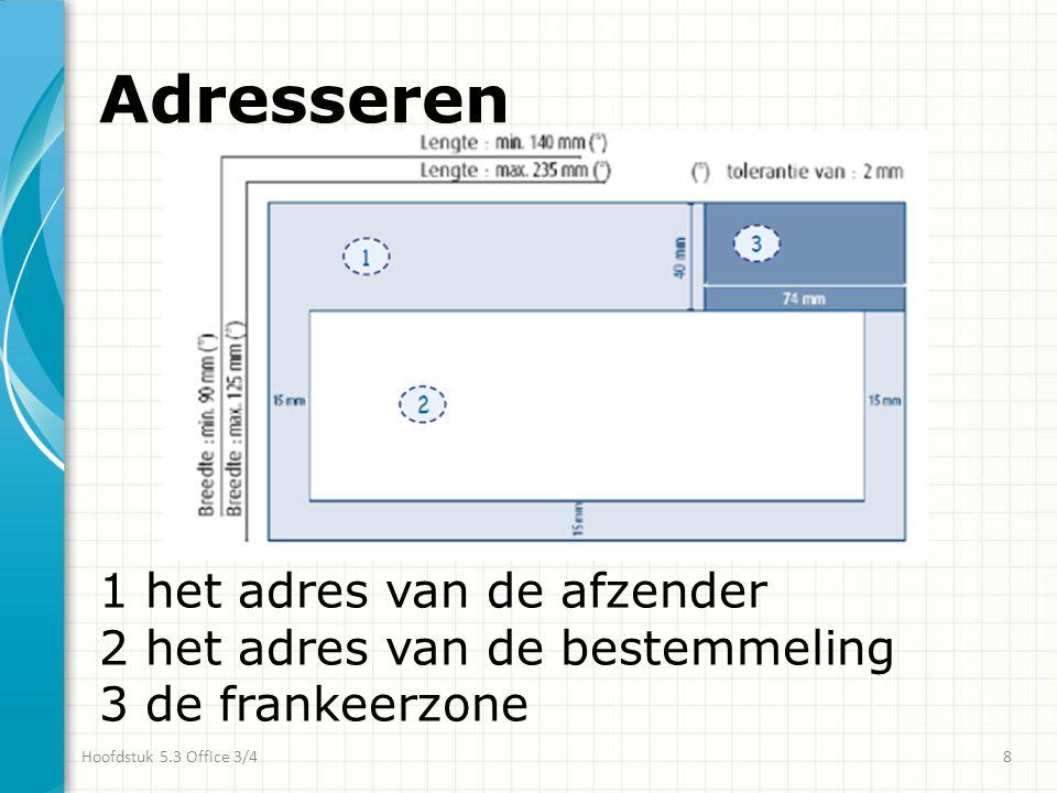 Frankeren Postzegels Frankeermachine Hoofdstuk 5.3 Office 3/49