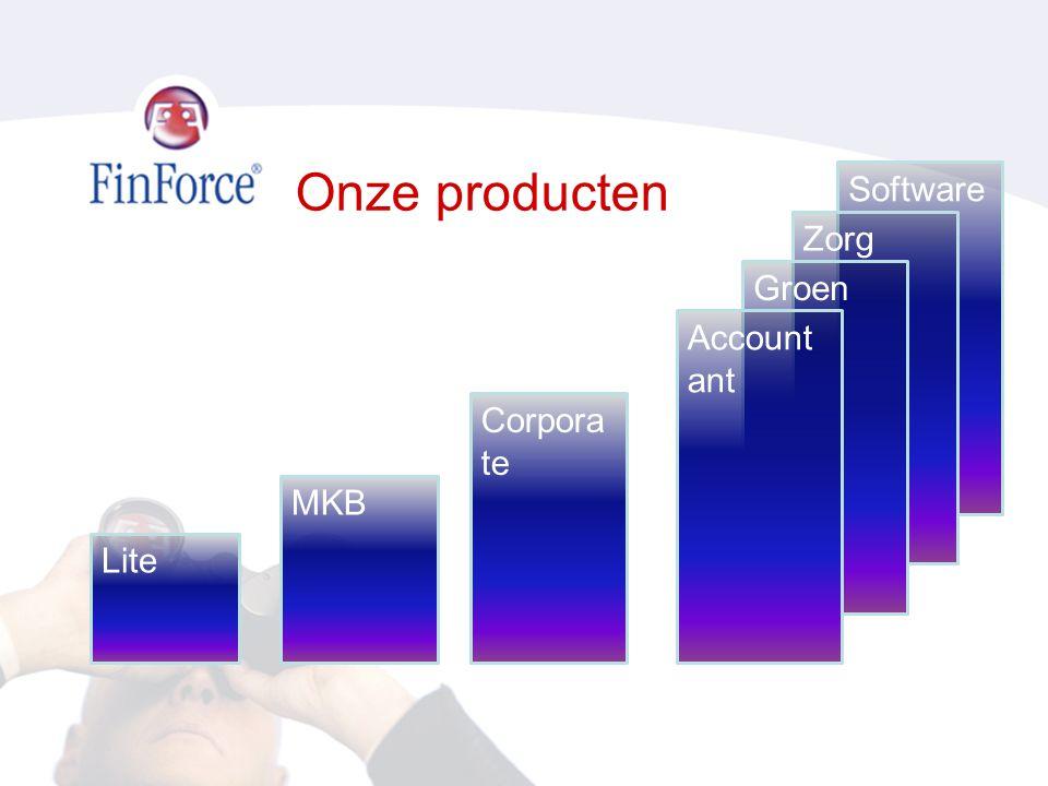 Onze producten Lite MKB Software Corpora te Zorg Groen Account ant